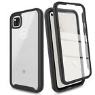 For Google Pixel 4a Case Clear TPU Hard Phone Cover W/ Built-In Screen Protector