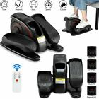 Under Desk Electric Elliptical Pedal Trainer LCD Display Monitor Leg Exercise