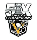 Pittsburgh Penguins 5 Times Stanley Cup Champions Sticker Hockey Die cut Decal $6.48 USD on eBay