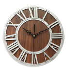 Wall Clock Accurate Wooden Craft Cafe Home Decor Roman Digital Bar Portable