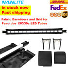 Nanguang Nanlite Fabric Barndoors and Grid Eggcrate fr Pavotube 15C 30C LED Tube