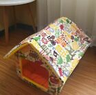 New Indoor Pet Dog Cat House Beds Kennel Tent Mat Coushion Removable Size S,M,L