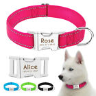 Nylon Personalized Dog Collar Engraved Custom ID Name Heavy Duty Buckle Safety