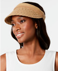 NWT Nine West Packable UPF 50 Straw Sun Visor