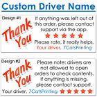 Внешний вид - 30 for DoorDash Stickers Thank You on Delivery Driver Bag CUSTOM NAME FREE SHIP