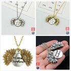 Sunflower You Are My Sunshine Open Locket Pendant Gold/silver Necklace Chain