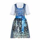 Bavarian Oktoberfest Dirndl Blue Dress