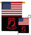 US Red POW/MIA Garden Flag Armed Forces Service Decorative Yard House Banner
