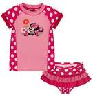 NWT Disney Store Minnie Mouse Rashguard Swim Set Swimsuit Girls 12-18 18-24