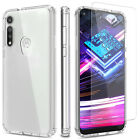 For Motorola Moto G Fast Case Clear Shockproof Tpu Cover/glass Screen Protector