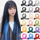 Color Clip in Hairpiece Long Straight Highlights Streak Synthetic Hair Extension