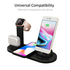 3 in 1 Apple Qi Wireless Charger Charging Dock Stand Station For iPhone