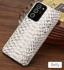 For Samsung Galaxy Note 20 Note20 Ultra Snake Skin Genuine Leather Python Case