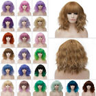 Lolita Heat Resistant Wig Bob Short Curly Wavy Ombre Synthetic Hair Cosplay Wear