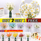 5 Head Artificial Silk Fake Daisy Flowers Bouquet Wedding Party Home Grave Decor