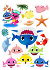 Baby Shark set of decorations ICING WAFER edible cake topper A4 size