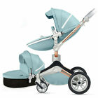 Hot Mom 3 in 1 Baby Stroller High Landscape pushchair travel Carriage&Car seat