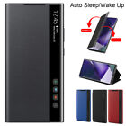 Auto Sleep S-view Flip Case Leather Stand Cover For Samsung Galaxy Note 20 Ultra