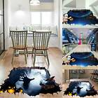Halloween 3d Wall Sticker Horror Floor Mural Removable Party Home Decorations Uk