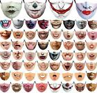 3d Printed Funny Face Mask Washable Breathable Mouth Protection Reusable Hot
