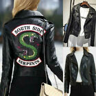 Kyпить South Side Serpents Riverdale Snake Gang Women PU Leather Jacket Motorcycle Coat на еВаy.соm