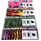 """Kittrich Assorted Book Covers Stretchable Standard Fits up to Size 8"""" to 10"""""""
