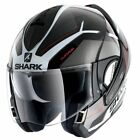 Shark Evoline 3 Hataum Black White Flip Front Motorcycle Crash Helmet New