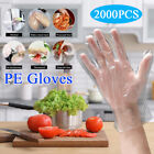2000PCS Disposable Clear PE Gloves Plastic Hand Work Gloves for Cooking Catering