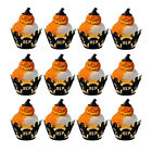 12pcs DIY Halloween Paper Cake Muffin Cupcake Baking Cups Party Decoration US 7
