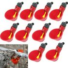 10/20pcs Automatic Chicken Quail Pigeon Drinker Poultry Drinking Water Bowl