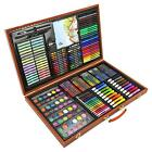 Artists Wooden Art Case Pencils Crayons Colour Painting Oil Pastels Set