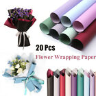 20PCS Translucent Waterproof Paper Net Flower Bouquet Wrapping DIY Gift Packing