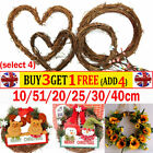 Artificial Christmas Vine Ring Wreath Rattan Wicker Garland Xmas Party Decor