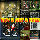 Merry Christmas Window Stickers Home Decorations Kids Room Wall Decals New Year