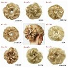 US Soft Curly Messy Bun Hair Pieces Elastic Scrunchie Natural Hair Extensions