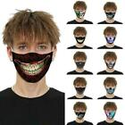 3d Printed Face Mask0 Fun Face Cover Washable&reusable Outdoor Protection Unisex