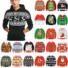 Unisex Mens Womens Christmas Xmas Pullover Jumper Hoodies Sweatshirt Sweater Top