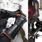 Retro Medieva Steampunk Fingerless Gloves Gothic Armguard Boxing Gloves Cosplay