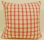 Decorative Pillow Cover Pillowcase Red & Cream checkered geometric squares