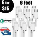 3 Pack 6FT USB-C to USB-C Cable Fast Charge Type C Charging Cord Rapid Charger