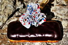 Eclair Donut with Abstract Art Red White and Blue Roses Fine Art HD Giclee Print