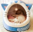 New Soft Pet Dog Cat House Bed Tent Kennel Cushion Mat Removable Indoor ball