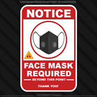 Notice Face Mask Required Sticker Door Window business caution warning decal
