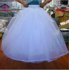 White 6-Layer/8-Layer No Hoop Tulle Petticoat Wedding Gown Crinoline Skirt Slip