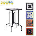Mosaic Bistro Side Table Outdoor Garden Patio Balcony Flower Plant Stand Table