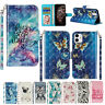 Pattern Leather Wallet Strap Card Case Cover for iPhone 11 Pro Max/XR/8/7/SE 2nd