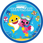 Shark family icing sheet round toppers, personalised and pre cut