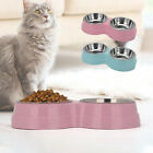 Pet Feeding Dog Cat Double Bowl Station Stainless Steel Water Food Bowl Feeder