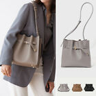 2 Pcs Real Leather Wide Strap Bucket Shoulder Bag Belt Purse Crossbody Work Bag