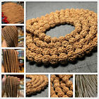 Natural 100 Tibetan Spiritual Buddhist Rudraksha Beads 108 2 pcs a Strand 8-10mm